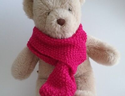 Teddy Bear Clothes, Handmade Magenta HandKnitted Scarf