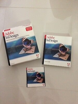 Adobe InDesign 1.0 (first version) Vintage Software (Mac)