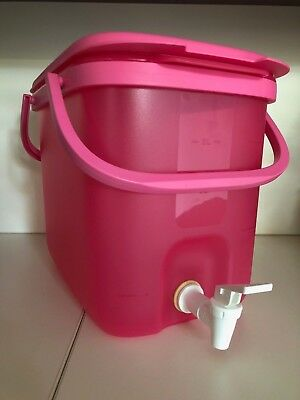 Tupperware 10L Pink Water Dispenser with Handles - New