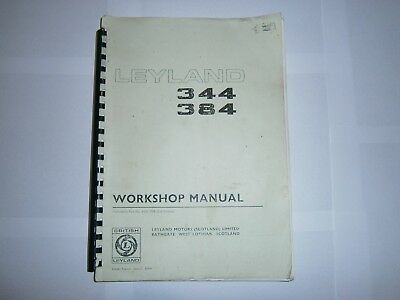 Leyland 344 384 tractor owners workshop manual