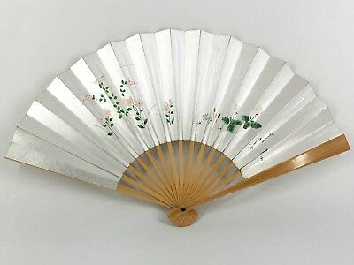 Vintage Japanese Motif Silver Folding Fan by Miyawaki of Kyoto: Jan18AC