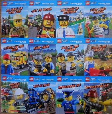 Lego City Phonics Bulk Book Pack - 12 New Learn To Read Books -  4+