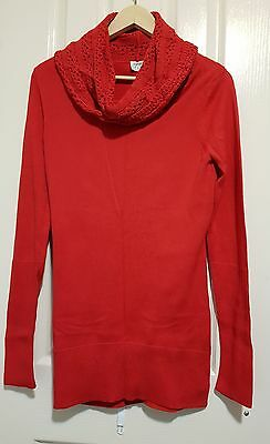 Size S / Small / 8 - ESPRIT Red Knit Sweater Jumper