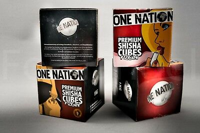ONE NATION 10kg (1Kg/3,99€) Premium Shisha Kohle Kokosnuss Cubes