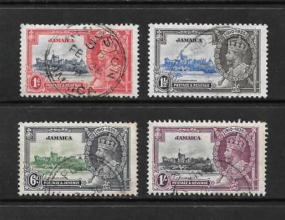 1935 King George V SG114 to SG117 Silver Jubilee set Used JAMAICA