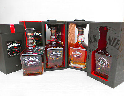 Jack Daniels Holiday Select 2011,2012,2013,& 2014 -Now Deleted Line-Yes Full Set
