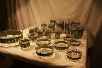 Vintage Sage Green Wedgewood Hellenic by Jeanette Glass, 24 Pieces