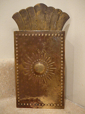 S25 Antique Vintage Brass Match Safe Holder Wall Mount Striker Made In Sweden