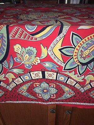 Vintage Tablecloth 82x64 Bright Fun Colors Free Ship In US