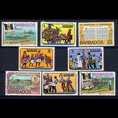 BARBADOS 1975-76 Festival & Independence Sets. SG 531-534, 569-572. MNH. (CA35A)