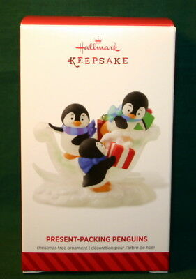 Hallmark Ornament 2014----Present-Packing Penguins   Very Cute