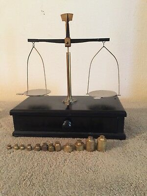 Vintage Pharmacy Scale And Weights