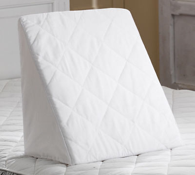 Reclining Orthopaedic Foam Bed Wedge Back Support Quilted Pillow - Aid Reliever