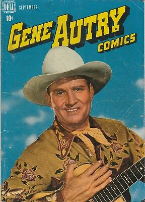 1948 # 19 Gene Autry Photo Cover Western Dell Vintage Comic Book Golden Age