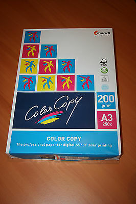 Color Copy Ramette 250 Feuilles A3 Papier Blanc 200 g Impression laser couleur