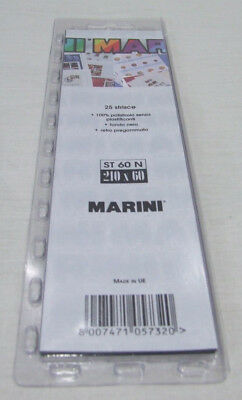 MARINI STAMP MOUNT STRIPS PACK OF 210 x 60 BLACK BACK x 25