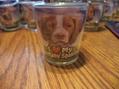 I Love My Brittany Spaniel  - Shot Glass -
