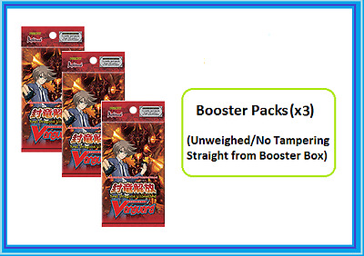 Cardfight!! Vanguard Seal Dragon Unleashed Booster pack (x3) (VGE-BT11) ENG
