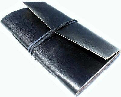Handmade Classic Black Refillable Leather Journal Diary Notebook Great Gift
