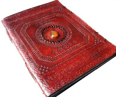 Handmade Large Embossed Leather Photo Album Scrapbook Great Gift