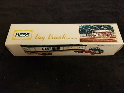 1976 Hess box trailer with barrels and original box, inserts & battery card
