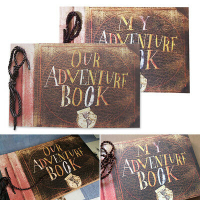 My Adventure Photo Album Retro Album Scrapbook DIY Anniversary Scrapbook 80 Page