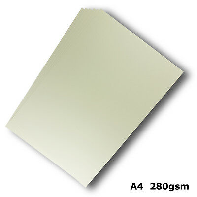 100 Sheets Cream Ivory A4 Card 280gsm Smooth Finish High Quality #H8408