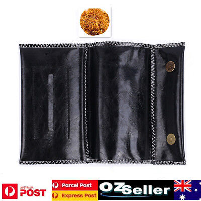 Cigarette Tobacco Pouch Leather Bag Wallet Case Holder Filter Rolling Paper Gift