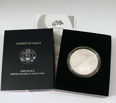 2007-W Special Burnished Finish Unc. American Eagle .999 1 Oz Silver Coin in OGH