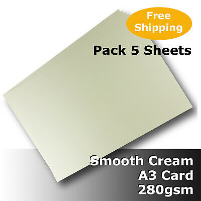 20 Sheets Cream Ivory A3 Card 280gsm Smooth Finish High Quality #H8468 #J1