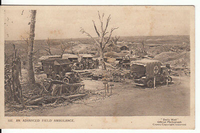 WW1 An advanced field ambulance, - Daily Mail War Pictures