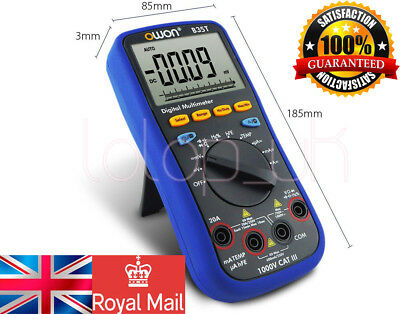 OWON Multimeter with Temperature Meter Bluetooth Interface OWON B35T TrueRMS UK