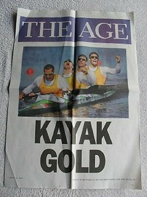 OLYMPICS Men's Kayak Four (K4) 1000m Smith Stewart Clear Sport Vintage Poster