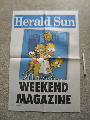 The Simpsons Family & Barney Newspaper Advert Posters rare