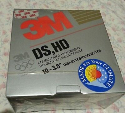 "3M DS HD 3.5"" diskettes pack of 10 1.44mb. Factory sealed. Free postage"