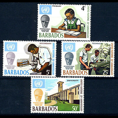 BARBADOS 1970 25th Anniversary UN Schools. SG 415-418 Mint Never Hinged. (AM457)