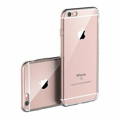 Transparent Clear Silicone Slim Gel Case and Screen Protector for iPhone 6/6S