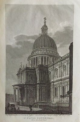 1808 Antique Print; St Paul's Cathedral, London after Edward Gyfford