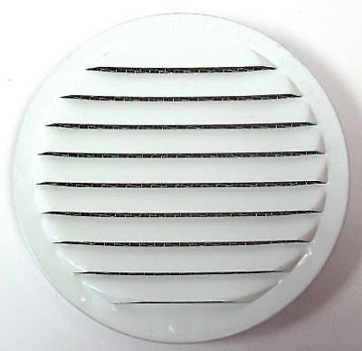 """Insect-proof Mini Louvers, White, 4"""", 4 PK., Maurice Franklin, RLW-100 4"""