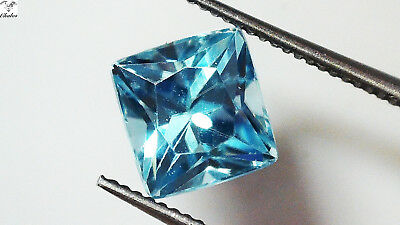 1x Zirkon - Blau Prinzess facettiert 5,3x5,5x4,5mm  1,53ct. (1789A)