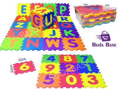 LARGE Foam EVA  Kids Baby Play Interlocking GYM Alphabet Numbers Puzzle FloorMat