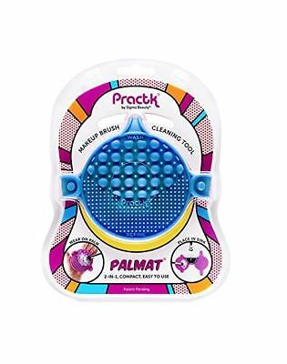 Practk Palmat Makeup Brush Cleaner (Blue) - Wear On Palm or Place In Sink - New!