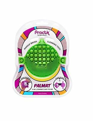 Practk Palmat Makeup Brush Cleaner (Green)- Wear On Palm or Place In Sink - New!