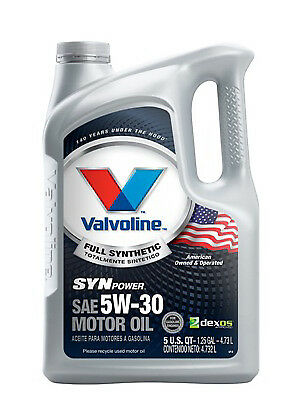 Synpower Motor Oil, Full Synthetic, 5w30, 5 Qts., Valvoline, 787007