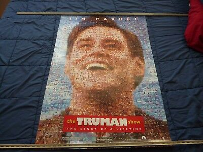 "THE TRUMAN SHOW (1998) Jim Carrey - Two Sided Original 27""x40"" Theatrical Poster"