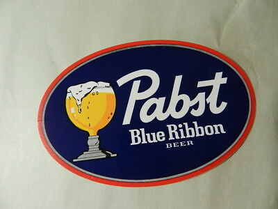 Vintage Beer Decal- Vintage Pabst Blue Ribbon Decal- Vintage Breweriana