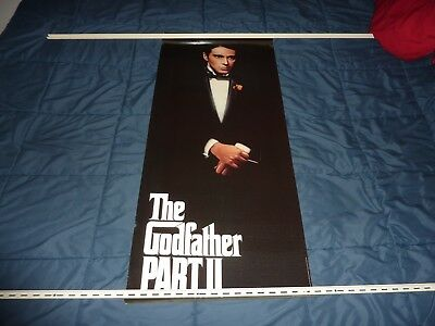 "THE GODFATHER PART II ON VIDEOCASSETTE - 1991 Al Pacino Poster - 37""x16"""