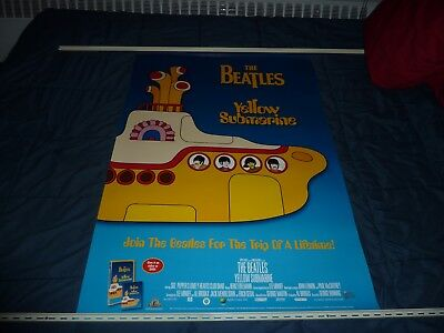 """THE BEATLES: YELLOW SUBMARINE - 1999 Home Video & DVD Release - 27"""" x 40"""" Poster"""