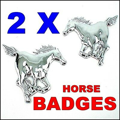 Horses Badges Sign Horse Box Trailer Car Tool Box Mustang Pony Sticker