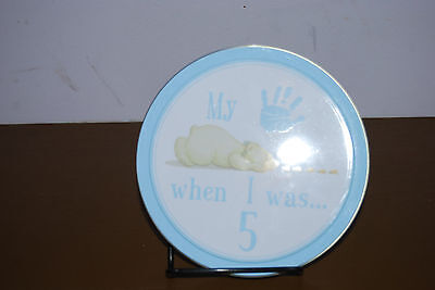 Child To Cherish Tower of Time Hand Print Kit When I Was 5 -Blue